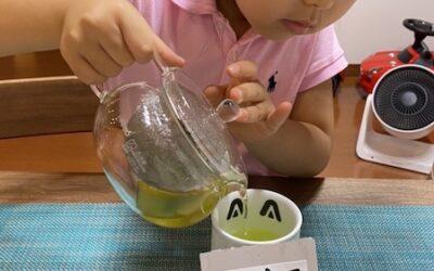 「味覚以外で学ぶ和食」を終えて子供たちが課題に取り組みました。